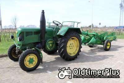 John Deere Lanz tractor D2816 & John Deere Lanz Potato digger Foto 1