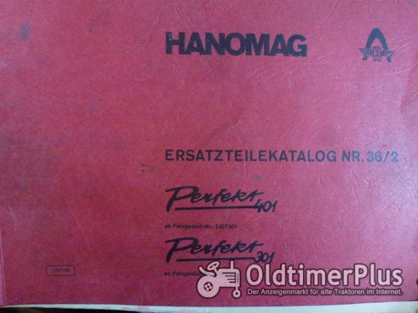 Hanomag Perfekt 301 und 401 Ersatzteilkatalog Nr. 36/2 Foto 1