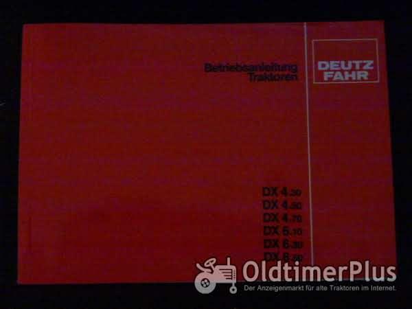Betriebsanleitung Deutz DX 4.30-6.50 Foto 1