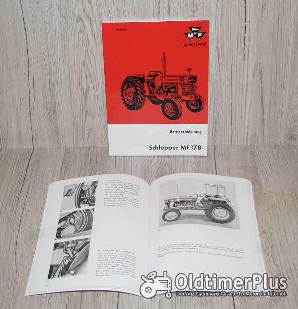 Massey Ferguson Bedienungsanleitung Betriebsanleitung Traktor MF178 Foto 1