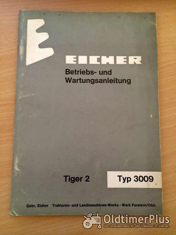 Eicher 3009 Tiger 2 Betriebsanleitung Foto 1