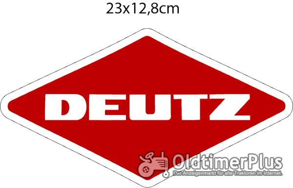 neu Deutz Aufkleber Logo Emblem Sticker Labe 23x12,8cm Foto 1