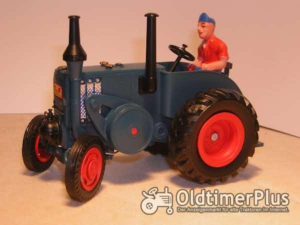 Lanz Bulldog MO-Miniatur Modell in Guss Weissmetall Foto 1