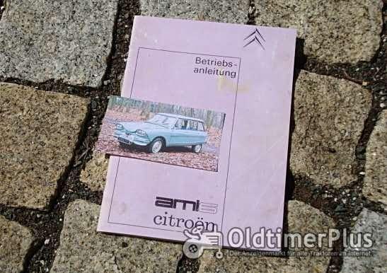Betriebsanleitung Citroen Ami 6 Limousine Break 1965 Foto 1