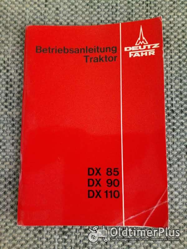 Deutz-Fahr DX 85 90 110 Bedienungsanleitung Foto 1