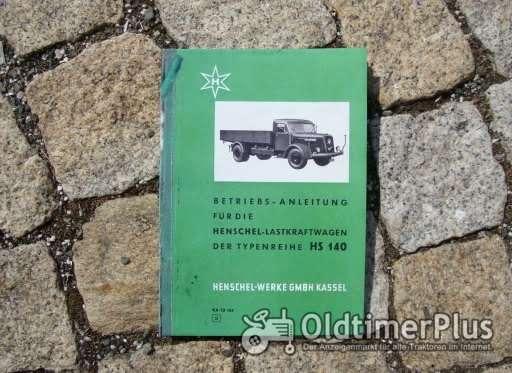 Betriebsanleitung Henschel HS 140 Hauben Lkw 1960 Foto 1