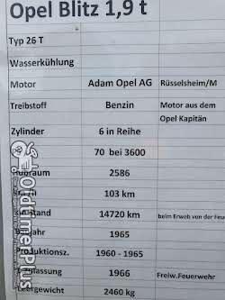 Opel Blitz 1,9 Feuerwehr Foto 11