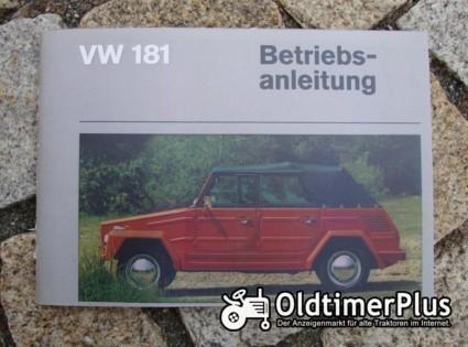 Betriebsanleitung VW 181 Mehrzweckwagen Kübelwagen 1970 Foto 1