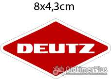 neu Deutz Aufkleber Logo Emblem Sticker Labe 8x4,3 cm Foto 1