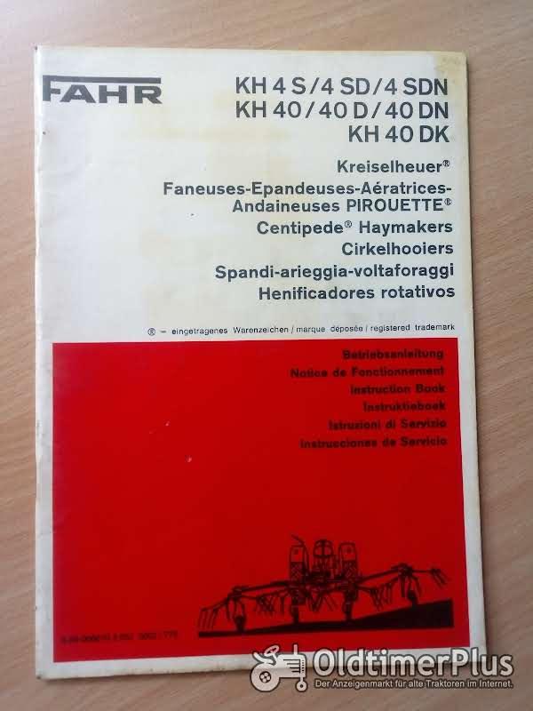 Fahr Kreiselheuer KH 4 | KH 40 Betriebsanleitung Foto 1