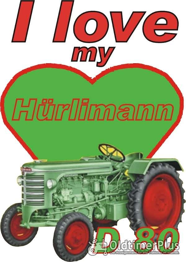 I love Hürlimann D 80  T-Shirt Foto 1