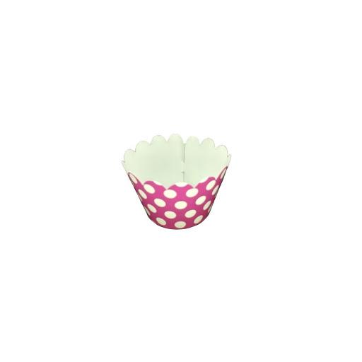 Cup Cake Altolitho Rosado Estampados Circulos/Rayas 25Und