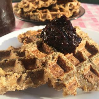 Healthy Oat Waffles - No flour, added sugar, egg, milk.