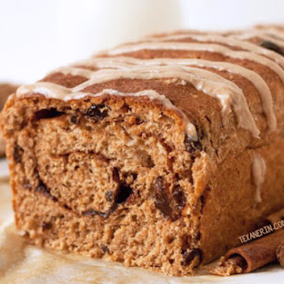 100% Whole Spelt Cinnamon Raisin Bread.
