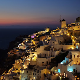 Santorini Nights by Seán Feely - Landscapes Travel ( santorini )