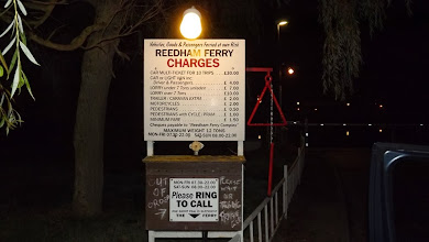 Photo: Arrival at Reedham Ferry 22:10 - after blindly following the GPS and ending up on the wrong side of the river