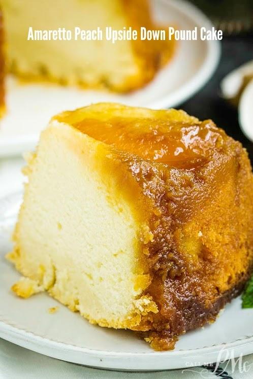 Amaretto Peach Upside Down Pound Cake