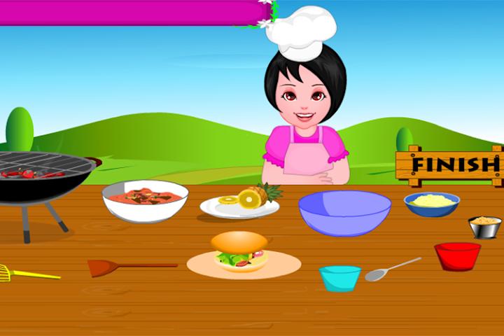 android Girls Cooking-Burger Screenshot 7