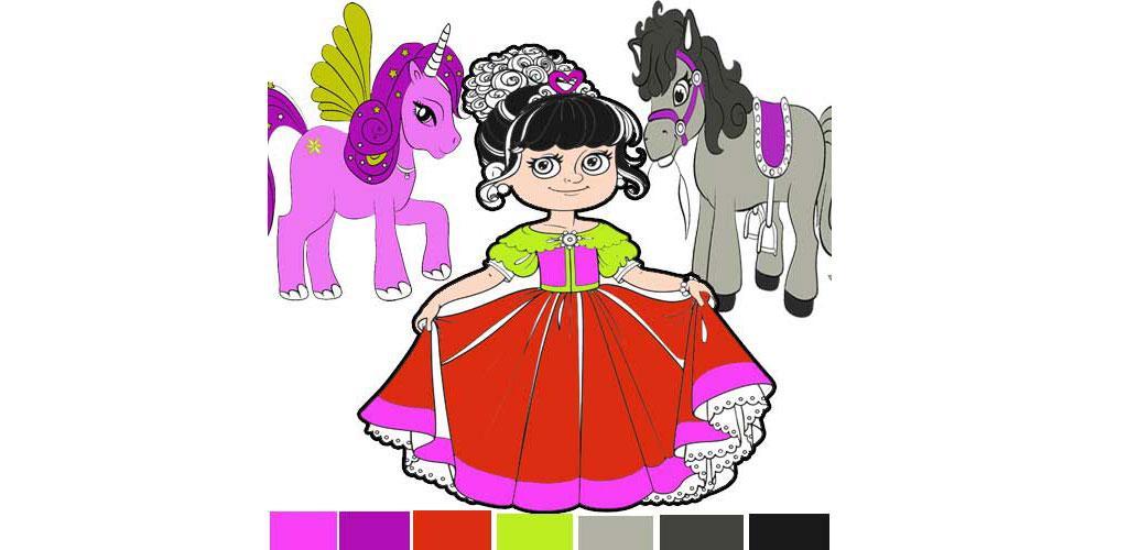 Magic World Of The Princess Coloring Book APK