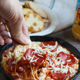 Pizza Dip with Pepperoni.