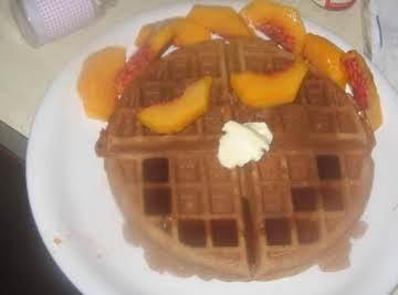 """Belgian"" Pumpkin Waffles"