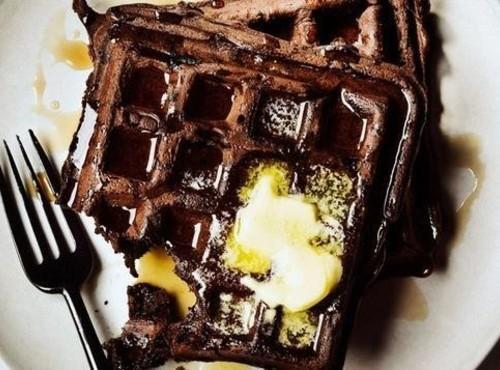 Dark Choclate Waffles Recipe