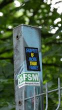 Photo: Sticker; Graffiti is more than crime