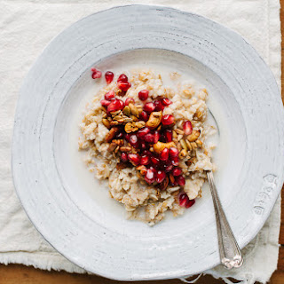 Multigrain Hot Cereal with Pomegranate Seeds and Spiced Pepita and Cashew Crunch