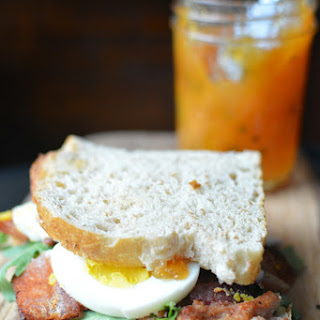 Easter Egg Bacon Arugula Sandwich