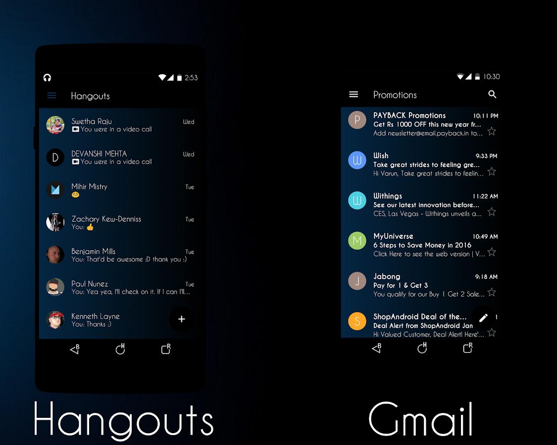 Gmail blue theme - Blue Tint Cm13 12 Theme Screenshot
