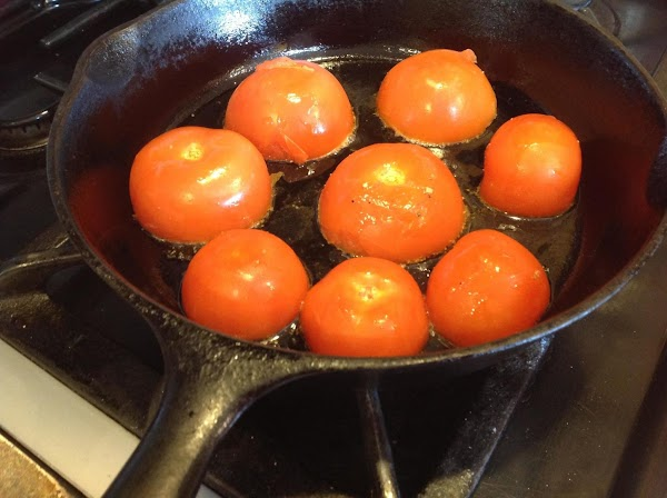 Spray a 8 inch cast iron skillet with nonstick cooking spray. Then heat till...
