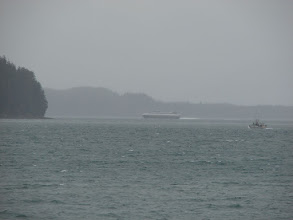 Photo: The fast ferry arriving in Auke Bay.