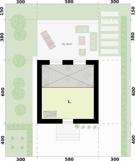 Lido 2 A dom letniskowy na zgłoszenie do 35m2 - Rzut poddasza