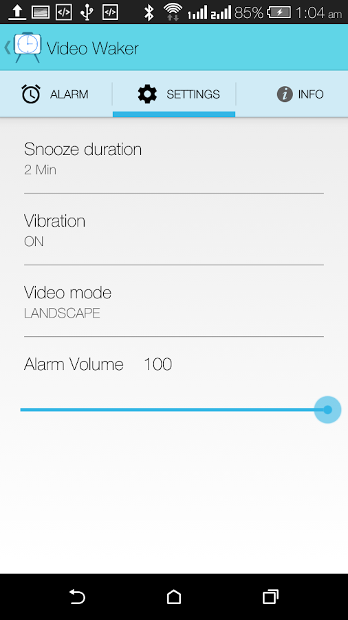 Video Alarm Clock- Video Waker- screenshot