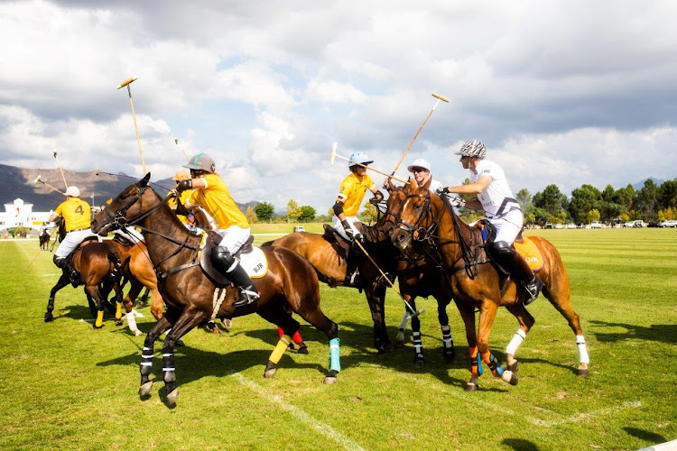 Team Veuve Clicquot battled it out against Team Maserati at the ninth Veuve Clicquot Masters Polo.