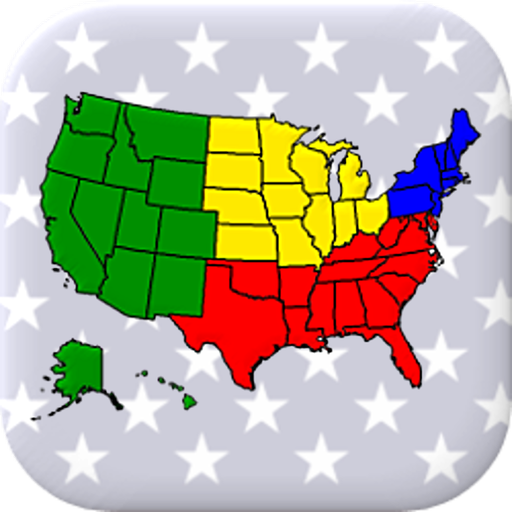 50 US States Map, Capitals & Flags - American Quiz (game)