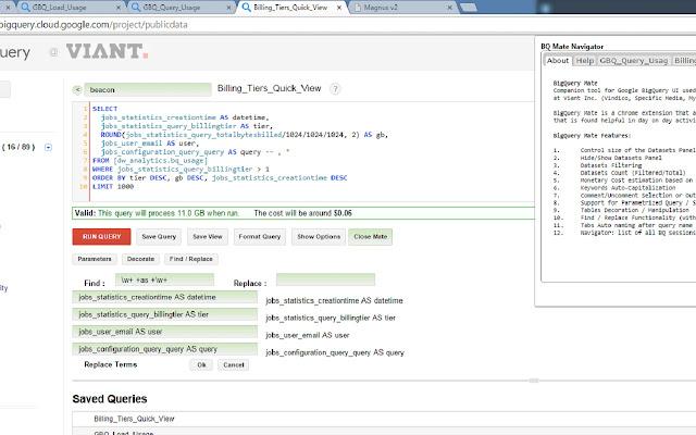 BigQuery Mate - Chrome 网上应用店