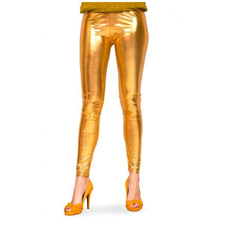 Leggings, guld metallic S/M