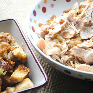 Crockpot Turkey Breasts and Stuffing