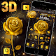 3D Golden Rose Brown Luxury Theme  Download on Windows