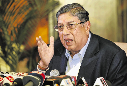 MONEY TALKS: As president of the Board of Control for Cricket in India Narayanaswami Srinivasan controls more than 70% of the revenue that flows into the world game. He is set to become even more influential