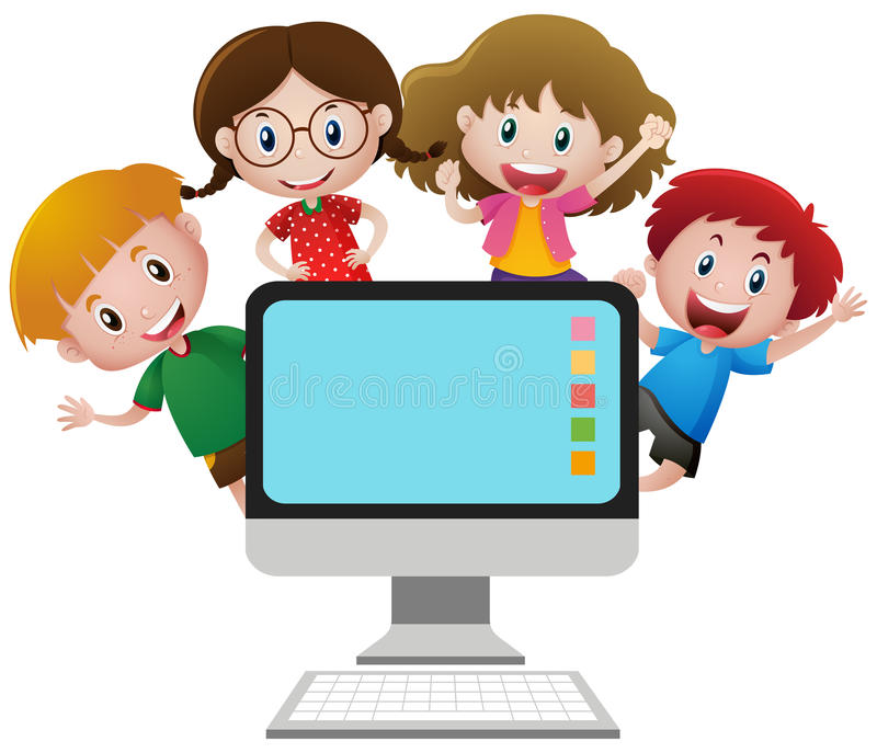 Image of kids and computer
