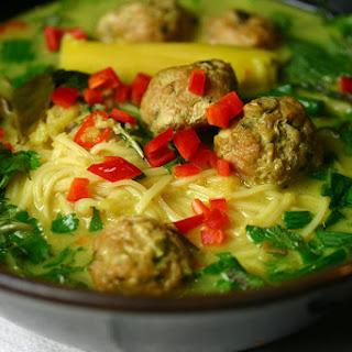 Thai Meatball Noodle Soup.