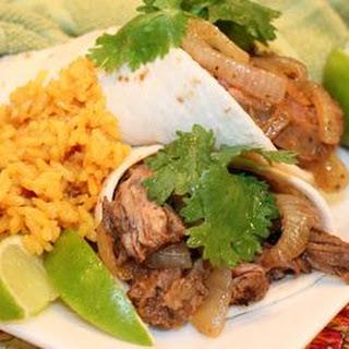 ~ Tequila-Lime Skirt-Steak Fajitas (Tacos al Carbon)~