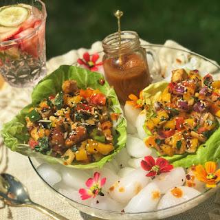 Thai Mango Lettuce Wrap Recipe
