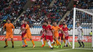 Imagen del partido Almería-Reus.