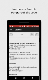 OBD2 scanner & fault codes description: OBDmax- screenshot thumbnail