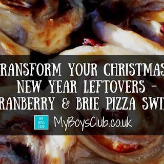 Cranberry & Brie Pizza Swirls.