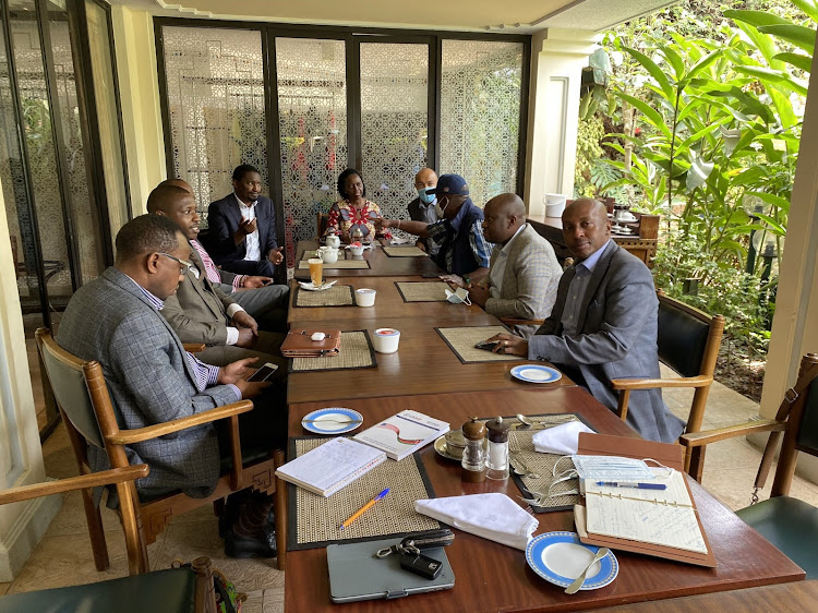 Mt Kenya leaders during a meeting at an undisclosed location on September 13, 2021.