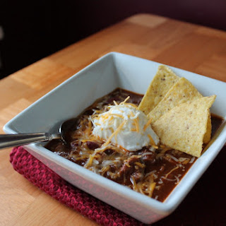 Chunky Style Beef and Beans Chili.